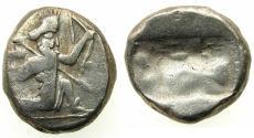 Ancient Coins - PERSIA.Achaemenid kings circa 485-470 BC.AR.Siglos. Lydo-Milesian standard.Mint of Sardes?