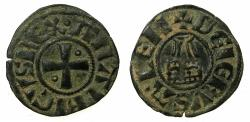 World Coins - CRUSADER STATES.Kingdom of Jerusalem.Amaury AD 1163-1174.Bi.Denier.Type 4.