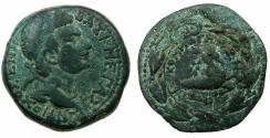 Ancient Coins - COMMAGENE.Antiochus IV Epiphanes AD 38-72.AE.22.1mm. Bust of Antiochus IV Reverse.Capricorn.