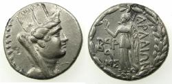 Ancient Coins - PHOENICIA.ARADOS.AR.Tetradrachm 'Attic standard'.struck 68/7 BC. Tyche. Reverse.Nike.