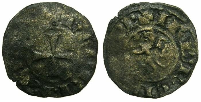 Ancient Coins - CRUSADER STATES.CYPRUS.Henry II AD 1275-1324.Bi.Denier.