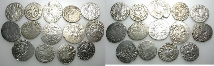 Ancient Coins - ARMENIA.Levon IV AD 1320-1342.AR.Takvorins ~~~14 coins ~~~~