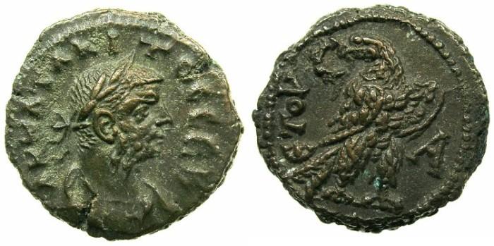 Ancient Coins - EGYPT.ALEXANDRIA.Tacitus AD 275-276.Billon Tetradrachm, struck AD 275/76.~#~Eagle.