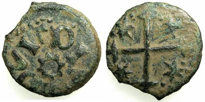 Ancient Coins - ROMANIA.VOIVODES OF WALLACHIA.Radu I AD 1377-1383.AE.Ban.