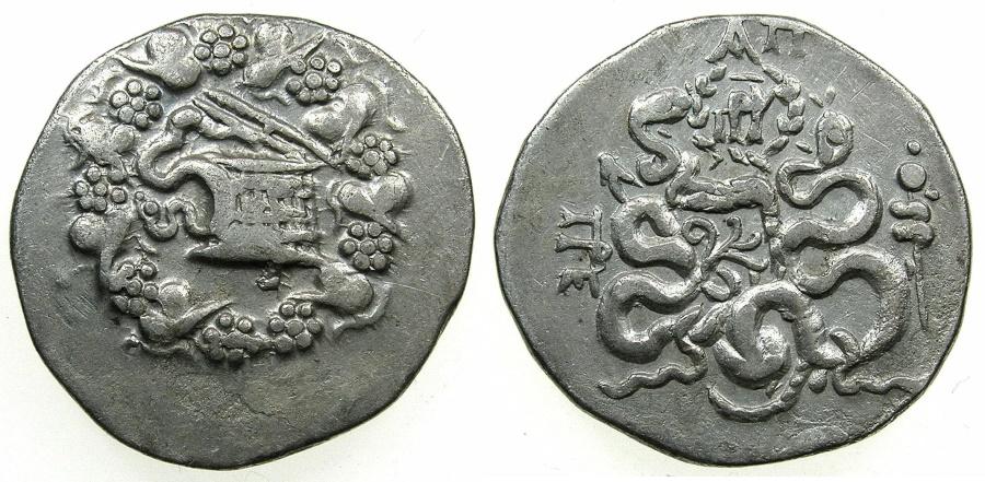 Ancient Coins - MYSIA.PERGAMON.AR.Tetradrachm, struck circa 133-1st Cent BC.