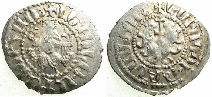 Ancient Coins - CILICIAN ARMENIA.Levon I The Great AD 1198-1219.AR.Tram.