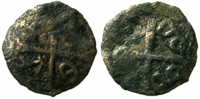 Ancient Coins - CRUSADER.RHODES.Lordship under the Gabalas.Late 13th C.AD.AE.Anonymous issue.
