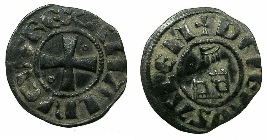 World Coins - CRUSADER STATES.Kingdom of Jerusalem.Amaury AD 1163-1174.Bi.Denier.