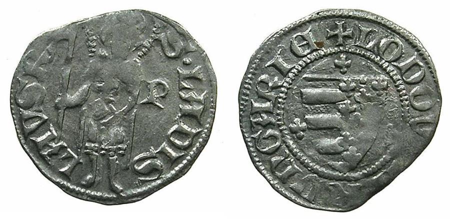 World Coins - HUNGARY.Loius I of Anjou AD 1342-1382.AR.Dinar.