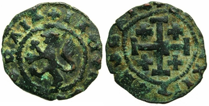 Ancient Coins - CRUSADER.CYPRUS.James II AD 1464-1473.AE.Sezin.Unrecorded varient?