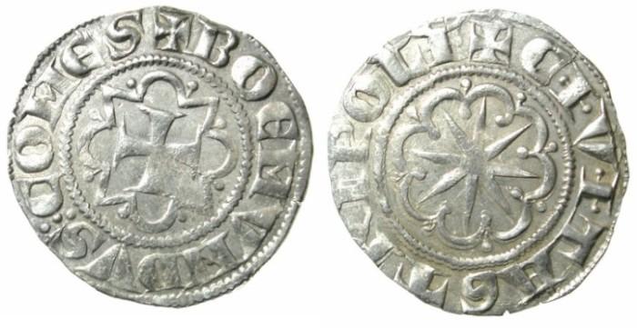Ancient Coins - CRUSADER.TRIPOLI.Bohemond VI AD 1251-1275.AR.Gros.