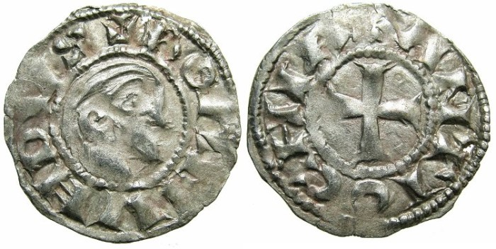 World Coins - CRUSADER.Principality of ANTIOCH.Bohemond III AD 1149-1201.Bi.Denier.Class A.Minority issue AD 1149-1163