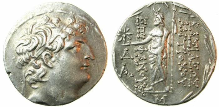 Ancient Coins - SELEUCID EMPIRE.Antiochus VIII 121-96 BC. AR.Tetradrachm. BC. Uncertain North Syrian mint