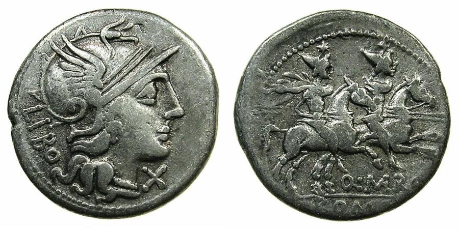Ancient Coins - ROME.REPUBLIC.Q.Marcius Libo 148 BC. AR.Denarius. Mint of ROME.