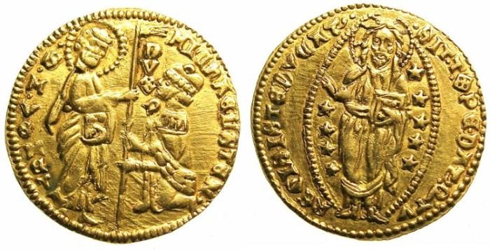 Ancient Coins - ITALY.VENICE.Michael Steno AD 1400-1413.AV.Ducat.