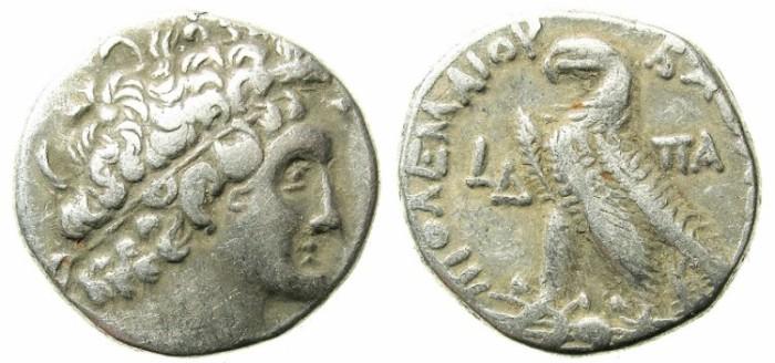 Ancient Coins - PTOLEMAIC EMPIRE.EGYPT.ALEXANDRIA.Ptolemy XII Neos Dionysios 80-51 BC.AR.Tetradrachm.78-77 BC