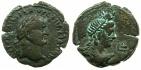 Ancient Coins - EGYPT.ALEXANDRIA.Vespasian AD AD 69-79.AE.Diobol, struck AD71/72.~#~. Isis