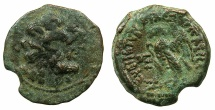 Ancient Coins - PTOLEMAIC EMPIRE.CYRENAICA.CYRENE.Ptolemy VIII Euergetes II 145-116BC.AE.18mm.