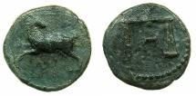Ancient Coins - EGYPT.Pharonic.Nektanebo II 361/60 - 343 BC.AE.Tetaremorion? Mint of MEMPHIS?