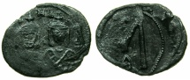 Ancient Coins - BYZANTINE EMPIRE.SICILY.Michael II AD 820-829 with with Theophilus associate from AD 821.AE.Follis.Mint of SYRACUSE