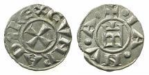 World Coins - ITALY.GENOA.Republic 1139-1339.AR.Denier.