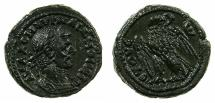 Ancient Coins - EGYPT.ALEXANDRIA.Aurenlian AD 270-275.Billon Tetradrachm, struck AD 271/72.~#~.Eagle on thunderbolt.