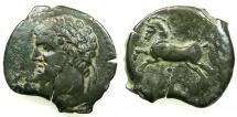 Ancient Coins - NUMIDIA.Massinissa or Micipsa circa 203-148-118 BC.AE.27mm.