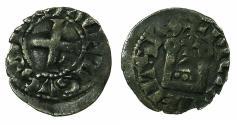 World Coins - FRANCE.POITOU, county of. Alphonse of France AD 1241-1271.Billon Denier.