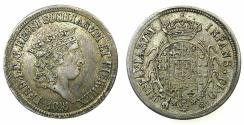 World Coins - ITALY.Two Sicilies. Ferdinand I AD 1815-1825.AR.Carlino ( 10 Grana ) 1818.