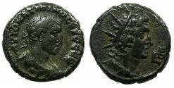 Ancient Coins - EGYPT.ALEXANDRIA.Maximanus Thrax 235-238 AD.Billon Tetradrachm, struck 235/6 AD.~#~.Bust of Helios.