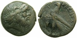 Ancient Coins - PTOLEMAIC EMPIRE.CYPRUS.Ptolemy VIII Euergetes II 145-116BC.AE.23.7mm.struck 140/39 BC.