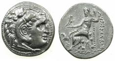 Ancient Coins - THRACE. Lysimachus 305-281 BC AR Drachma.Colophon mint