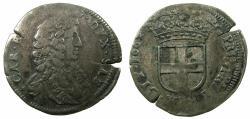 World Coins - ITALY.SAVOY.Carlo Emanuele II Duke1648-1675.Billon 5 Soldi.1664 1st Type.Mint of TURIN.