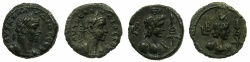 Ancient Coins - EGYPT.ALEXANDRIA.Claudius II Gothicus AD 268-270.Billon Tetradrachms ( 2 coins ).Struck AD 269/70. ~#~.Busts of Hermanublis, Small and Large