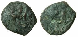Ancient Coins - BYZANTINE EMPIRE.SICILY.Heraclius AD 610-641.AE.Follis.Countermarked Busts and SCL over follis of Constantinople.