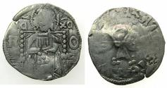 World Coins - SERBIA.Stefan VIII Uros IV Dusan as Emperor AD 1346-1355.AR.Dinar.Bulgarian Bird within square countermark.