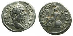 Ancient Coins - ROMAN.Septimius Severus AD 193-211.AR.Denarius.Mint of ROME. Reverse. Roma seated.