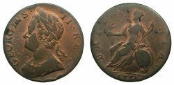 World Coins - ENGLAND.George II 1727-1760.AE. Half Penny.1748