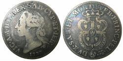World Coins - ITALY.SARDINIA.Victorio Amadeus III King of Sardinia 1773-1796.AR.Mezzo Scudo Sardo.1773. Mint of TURNIN.