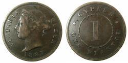 World Coins - CYPRUS.Victoria.AE.1 Piastre 1887.