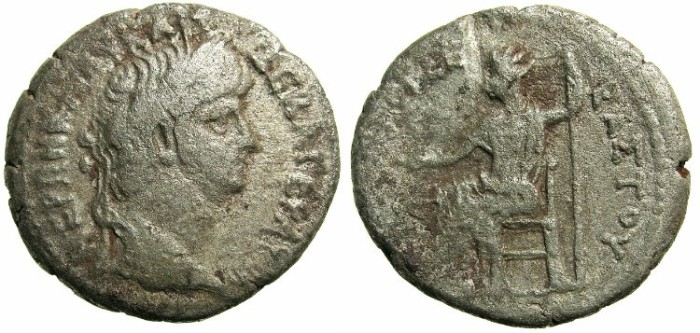 Ancient Coins - EGYPT.Nero AD 56-58.Bi.Tetradrachm.AD 59/60.Mint of ALEXANDRIA.Revese.Emperor seated.