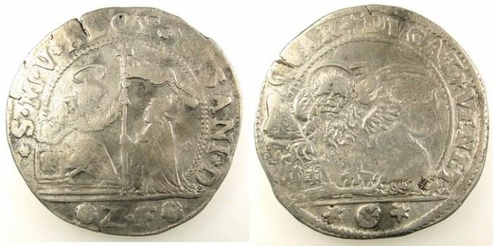 Ancient Coins - ITALY.VENICE.Alvise Pisani 1735-1741.AR.Quarto di Ducato