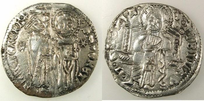 Ancient Coins - ITALY.VENICE.Antonio Venier AD 1382-1400.AR.Grosso.3rd type.