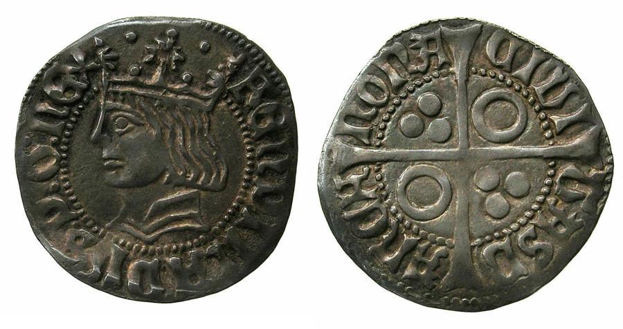 World Coins - SPAIN.BARCELONA.Ferdinand II ' El Catolico ' AD 1479-1516.AR. Groat.