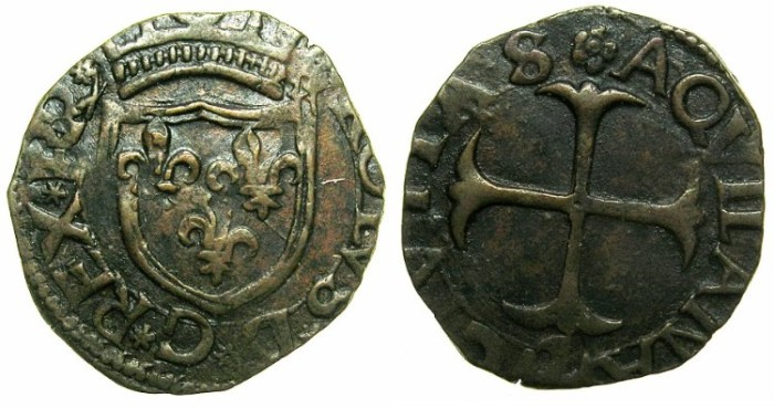 Ancient Coins - ITALY.Kingdom of NAPLES.Charles VIII of France AD 1495-1496.AE.Cavallo, Type.4.Mint of L'Aquila.