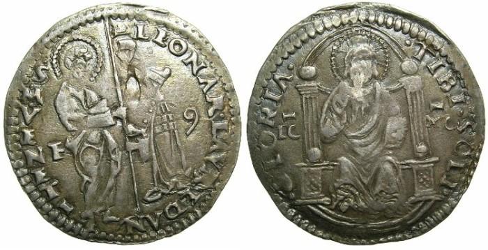 Ancient Coins - ITALY.VENICE.Leonardo Loredan AD 1501-1521.AR.Marcello ( or Mezza Lira )~#~Assayer Ferigo Contarini.