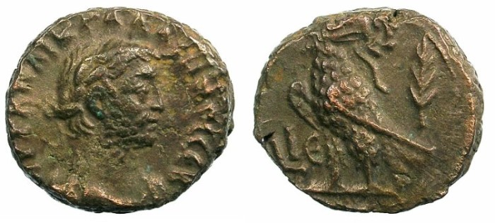 Ancient Coins - EGYPT.ALEXANDRIA.Gallienus AD 253-268.Bi.Tetradrachma.Eagle