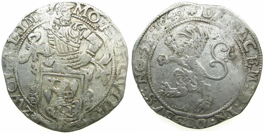 World Coins - NETHERLANDS.ZWOLLE.AR.Lionthaler.1649.