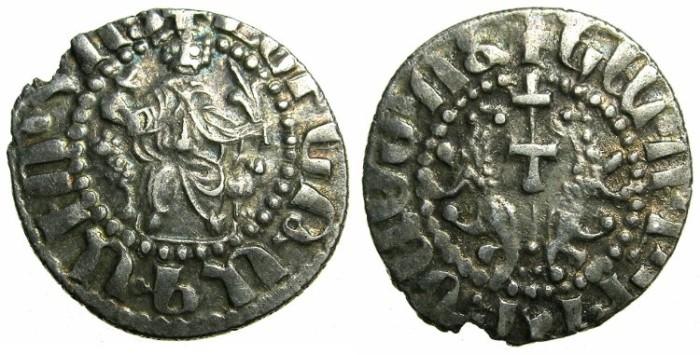 Ancient Coins - CILICIAN ARMENIA.Levon I AD 1199-1219.AR.Tram.LEVN legend.