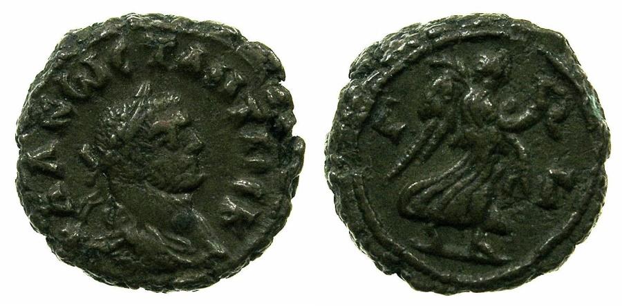 Ancient Coins - EGYPT.ALEXANDRIA.Constantius Chlorus Caesar AD 293-305.Billon Tetradrachm, struck AD 294/95.~#~.Nike.